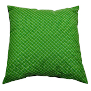 Shweshwe Print Cushion Cover Green and Lime