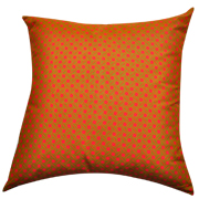 Shweshwe Print Cushion Cover Pink, Lime Green and Orange