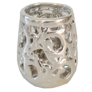 Silver Ceramic Tealight Votive