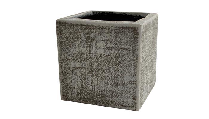 Small Ceramic Vase Cement Finish