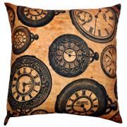 Steampunk Cushion Cover Clocks