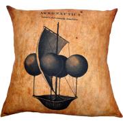 Steampunk Cushion Cover Lanas Aeronautic Machine