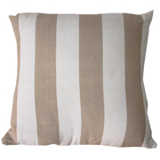 Stone Broad Stripe Cushion Cover Small