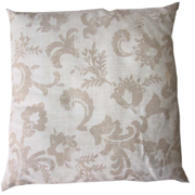 Stone Floral Cushion Cover Small Dark on Light