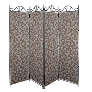 Stone Floral Room Divider Covers Light on Dark
