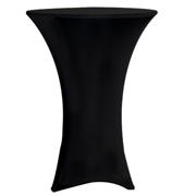 Stretch Cocktail Tablecloth Black Lycra