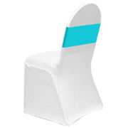 Lycra Chair Band Turquoise