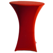 Stretch Cocktail Tablecloth Red