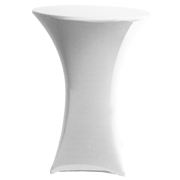 Stretch Cocktail Tablecloth White