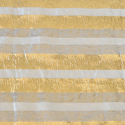 Stripe Lurex Runner Gold and Grey