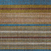 Stripe Weave Runner B Browns Green Turquoise