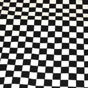 Suede Checked Black and White
