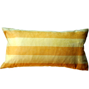 Suede Cushion Cover Two Tone Yellow Stripe