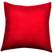 Suede Cushion Cover B Small Red