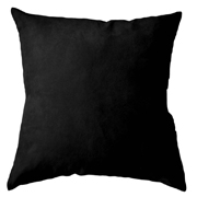 Suede Cushion Cover Big Black