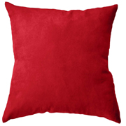 Suede Cushion Cover Big Red
