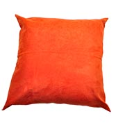 Suede Cushion Cover Bright Orange