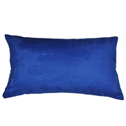 Suede Cushion Cover Rectangle Electric Blue