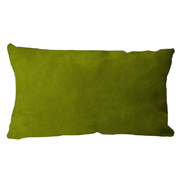 Suede Cushion Cover Rectangle Lime Green