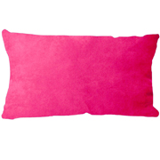 Suede Cushion Cover Rectangle Pink