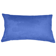 Suede Cushion Cover Rectangle Primary Blue