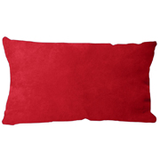 Suede Cushion Cover Rectangle Red