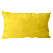 Suede Cushion Cover Rectangle Yellow