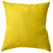 Suede Cushion Cover Small Yellow