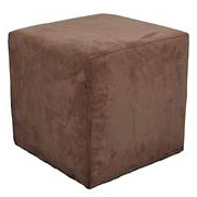 Suede Ottoman Brown