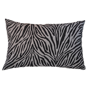 Suede Printed Zebra Cushion Cover Black and White