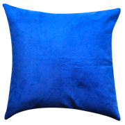 Suede Cushion Cover Primary Blue