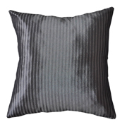 Taffeta Fine Stripe Cushion Cover Two Tone Silver Grey