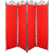 Taffeta Room Divider Cover Red Crush