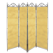 Taffeta Room Divider Covers Cream Crush