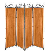 Taffeta Room Divider Covers Dull Gold Crush