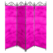 Taffeta Room Divider Covers Hot Pink Crush