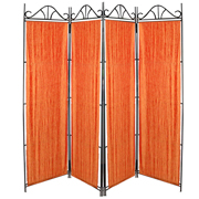 Taffeta Room Divider Covers Orange Crush