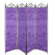 Taffeta Room Divider Covers Purple Crush