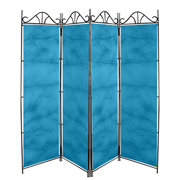 Taffeta Room Divider Covers Turquoise Crush
