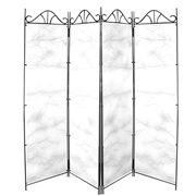 Taffeta Room Divider Covers White Crush