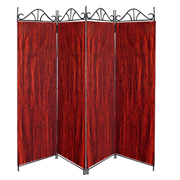 Taffeta Room Divider Covers Wine Red Deep Crush