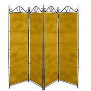 Taffeta Room Divider Covers Yellow Crush