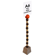 Tall Card Stand Beaded African