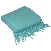 Textured Knit Throw Teal