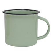 Tin Mug Green Small
