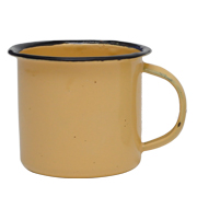 Tin Mug Small Yellow