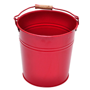 Tin Bucket Small Red