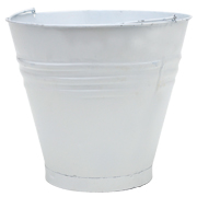 Tin Bucket Small White