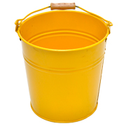 Tin Bucket Small Yellow