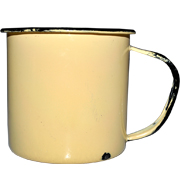 Tin Mug Yellow